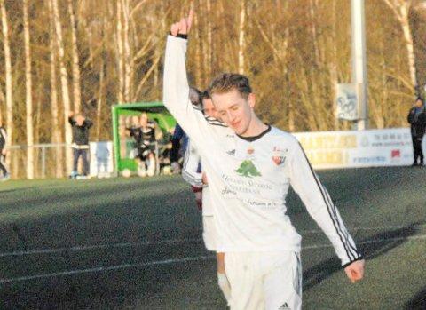 Henrik Studsrud gjorde en solid innsats mot Eidsvold IF, og scoret to mål.