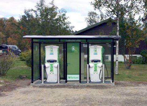LAD I VEI: Den nye ladestasjonen på Dagali åpner lørdag.