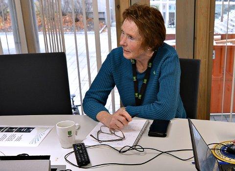 FORNØYD: Kongsberg-ordfører Kari Anne Sand er fornøyd med at smittetallene går nedover.