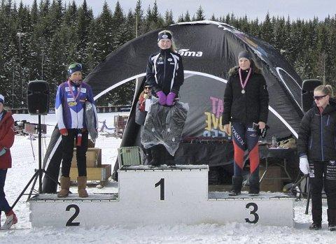 TRONET PÅ TOPPEN: Ellen Pernille Olsen kunne klatre helt opp på den øverste pallen etter fellesstarten søndag.