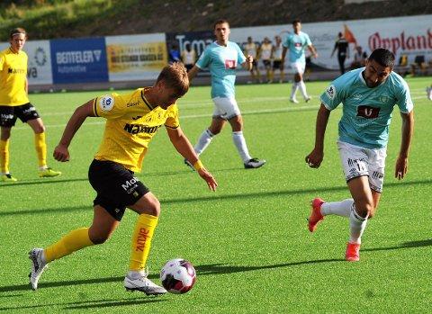 I FORM: Teodor Berg Haltvik håper Raufoss kan slå hardt tilbake mot Bryne i kveld.