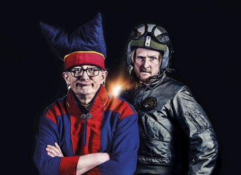 Faste figurer: Noen faste figurer er alltid med i Honningsvågrevyen. Kliff Arne og en same kan man garantert møte.