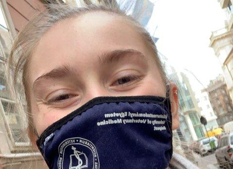 HVERDAGEN FOR KRISTINA: Som student i Budapest i Ungarn har Kristina Horten fått oppleve tett på hvordan koronapandemien slår til.