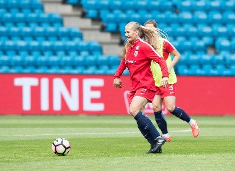KLAR: Lisa-Marie Karlseng Utland kan for alvor begynne å forberede seg til sommerens VM i Frankrike. Foto: Terje Pedersen