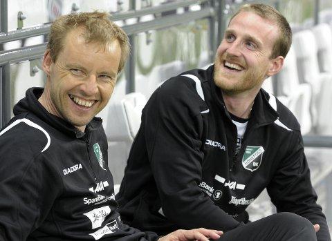 DEN GANG: Håkon Wibe-Lund jobbet tett med HBK-legenden Tom Gulbrandsen fra trenerbenken.