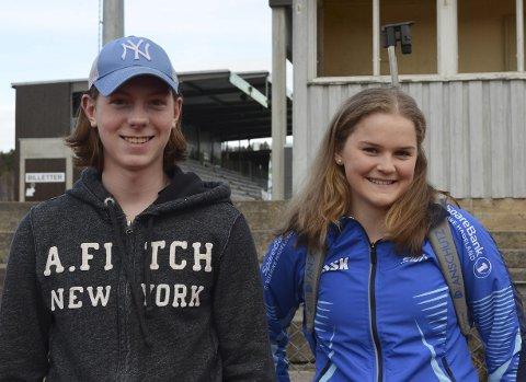 Idrettsglade: Marcus Wisløff (15) og Tuva Stræte (16) gleder seg til å begynne på Norges Toppidrettsgymnas til høsten.