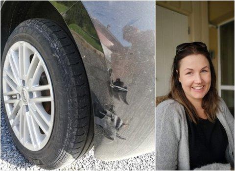 RIPET OPP: Bilen til Hedi Bergersen var ripet opp etter sammenstøtet.