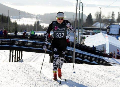 GIKK FORT: Vilde Flatland gikk fort og sikret seg norgescuppoeng da hun gikk inn til 24.plass på den klassiske distansen i junior-NM i langrenn i Steinkjer.