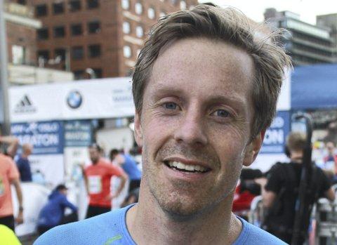 I FORM: Vidar Innselset gjør det bra både i løping og ikke minst triatlon som han har fattet interesse for. 35-åringen gjør det også bra i denne idretten.