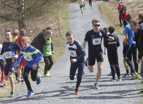 Nesten: Jørgen Dyrdahl veksler med Fredrik Kousgaard og kjemper om pallplass.