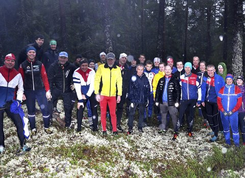 ENTUSIASTER: Vel 35 glade orienteringsløpere var samlet til løp på Kongeåsen i Havnås andre juledag.