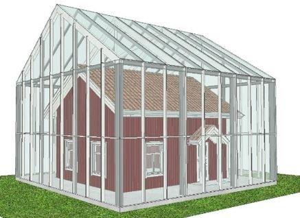 Snart kan du se Vanghuset inne i et glasshus i Jahrenkrysset i Hobøl.