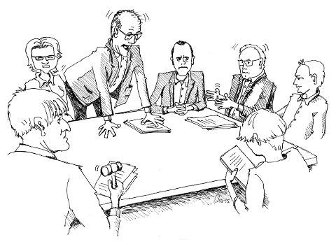 DRAMATIKK: Det går ikkje stille føre seg når politikarar og rådmenn i Strand, Forsand og Hjelmeland skal diskutera kommunesamanslåing.
