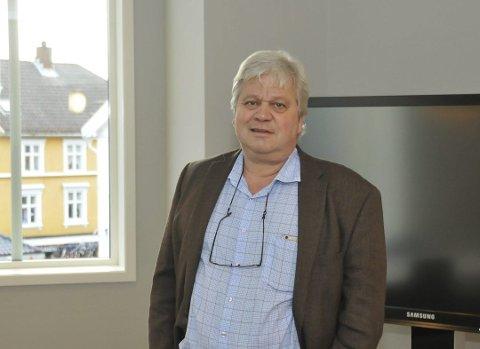 Solgte ikke: – Vi mente det var best å foreta en restrukturering før et eventuelt salg, sier banksjef Jon Guste-Pedersen i Skagerrak sparebank til Dagens Næringsliv.