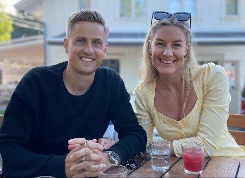 SAMBOERPAR: SIFs nye spiller Thomas Grøgaard og samboeren Sandra Sørby Clemensen skal finne seg et sted å bo i drammensdistriktet. Neste sommer skal det unge paret gifte seg.