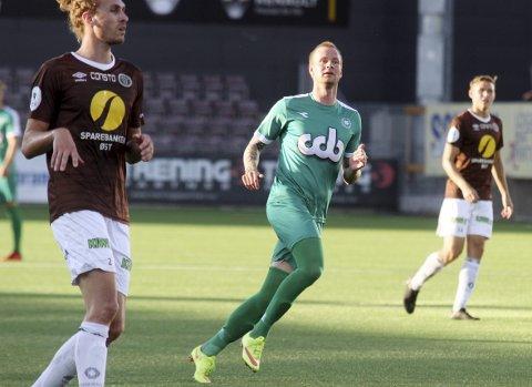 Snart klubbløs: Andreas Rødsand kom inn som innbytter da Nest-Sotra spilte 3-3 mot Mjøndalen.