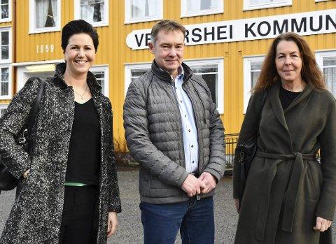 Optimistiske: Ledelsesutvikler Kine Aasheim (til venstre), Mauråsen-Eier Olav Aas og leder for Vegår videregående skole AS, Edith Somdal.