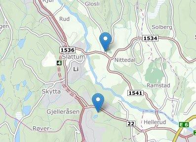 REASFALTERES:Kart som viser Kirkeveien øverst og Morteveien nederst.