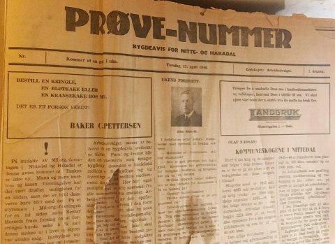 FORLØPEREN: 16. mai 1946 kom første nummer av Varingen ut, men fem uker tidligere lå denne utgaven av lokalavisen i postkassene til folk i bygda.