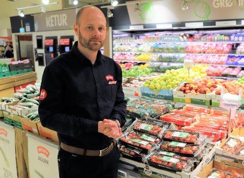 Butikksjef hos Meny Drøbak City, André Malonæs, sier de ved en eventuell streik, vil forsøke å opprettholde normal drift.