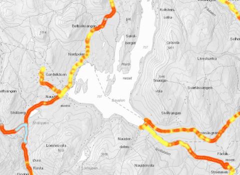 DÅRLIG: Per Westgård i Ren Røros Digital står bak kartleggingen av kvaliteten på mobildekning i Fjellregionen. Arbeidet har resultert i millionstøtte til oppsetting av flere mobilmaster rundt omkring i hele regionen.