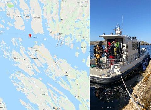 Ein stor leiteaksjon pågår no etter ein sakna Fritidsbåt av typen Paragon 31, same type som vist på bildet. Kart: googlemaps/foto: Politiet