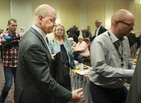 Ferdig: Oddleif Olavsen var en slagen mann etter at fylkesrådssamarbeidet mellom Høyre og Arbeiderpartiet ble brutt. Foto: Tom Melby