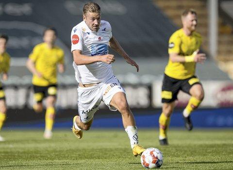 Bergenseren Sondre Liseth (23) har møtt Brann fire ganger som Mjøndalen-spiller og har aldri tapt. – Det vil alltid være litt ekstra spesielt å spille mot Brann. Det har vel blitt ti poeng på de kampene. Det er jo litt kjekt, innrømmer han.