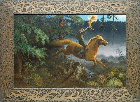 PRISREKORD: Det er ventet at Theodor Kittilsens «Guldhornet» blir solgt til en historisk høy pris på Blomqvists kunstauksjon 20. november.