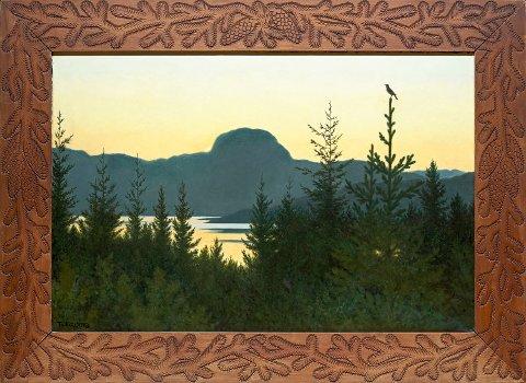 NY PRISREKORD: Th. Kittelsens bilde av Andersnatten i Sigdal ble solgt for 14 millioner kroner på kunstauksjon i Oslo tirsdag kveld.