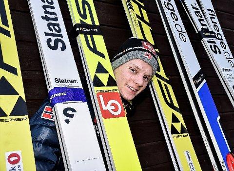 TATT UT: Anders Håre (20) fra Skotselv er klar for de Raw Air-rennene i Holmenkollen og på Lillehammer.