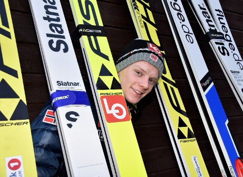 GODT ARBEID I SOMMER: Etter mye og hard trening i sommer, er Anders Håre inne i varmen igjen blant elitehopperne.