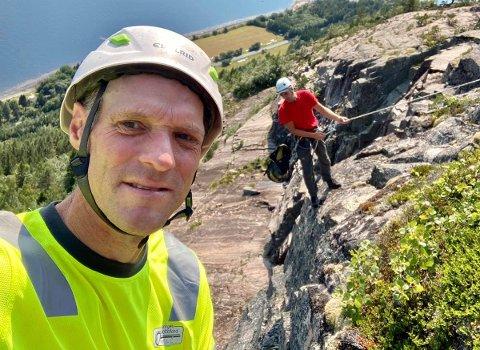 Runar Carlsen fra Flateby, opprinnelig Nordby i Rælingen, har etablert mer enn 1000 klatreruter i totalt fordelt på alle fylkene i Norge.