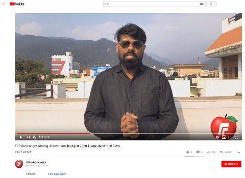 KVEN ER HIRUSHANTAN? Vedkommande på videoen er ukjent, men uansett kven han er så har han spenstige tankar om tiltak som kan betre relasjonen mellom tamilar og bremangarar.