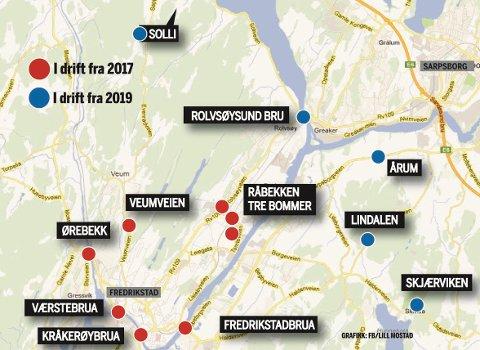 Nå er det vedtatt: I mai starter utbyggingen av strekningen mellom Seut og Simo, og i 2017 begynner innkrevingen av bompenger på stasjoner som er merket rødt.
