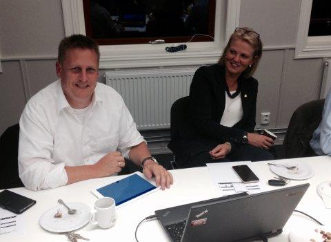Foreløpig fornøyd: Ordfører René Rafshol (H) er spent på valgresultatene. Forhåndsstemmene viser svært gode tall for Høyre.