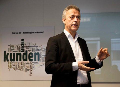 Konsernsjef i Amedia, Are Stokstad kan se at inntektene stiger etter flere vanskelige år.