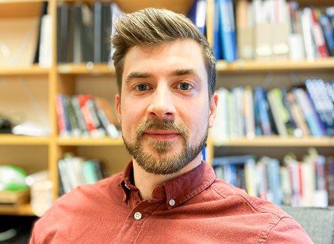NYANSATT: Joakim Aalmen Markussen (30) fra Narvik er doktorgradsstipendiat ved UiT og nyansatt ved Narviksenteret som forsker.