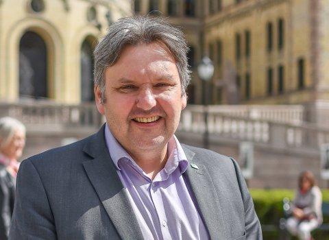 VEILØSNING: Jonny Finstad får være med å lose Hålogalandsveien i havn i Stortinget.