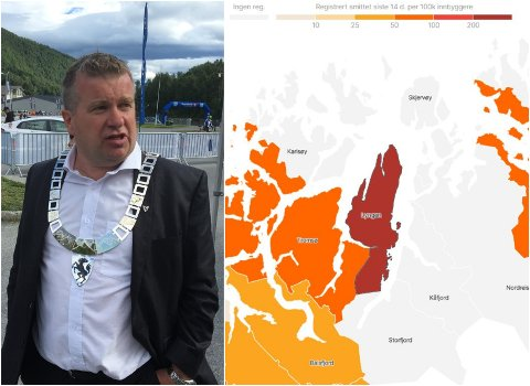 - REAGERER KRAFTIG: Lyngenordfører Dan-Håvard Johnsen er ikke fornøyd med måten smitten i Lyngen fremstilles.