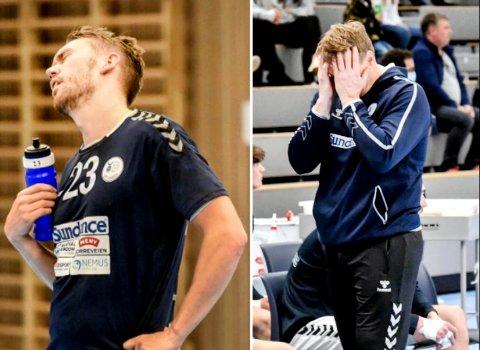 LITT OPPGITT: Filip Svele og trener Johnny Jensen liker ikke situasjonen med stadig opphold i spillet.