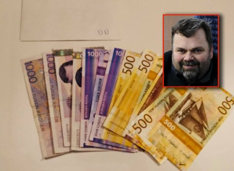 TI TUSEN TAKK! Jan Thomas Låhne i Tjøme skateklubb er rørt over gaven fra den anonyme giveren.