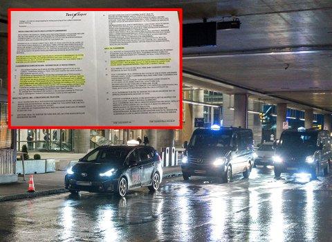HAR MAKT: Denne avtalen viser at taxidepotet har sanksjonsmuligheter mot problemsjåførene ved Oslo lufthavn. De virkemidlene mener daglig leder i Bytaxi ikke blir brukt i stor nok grad.