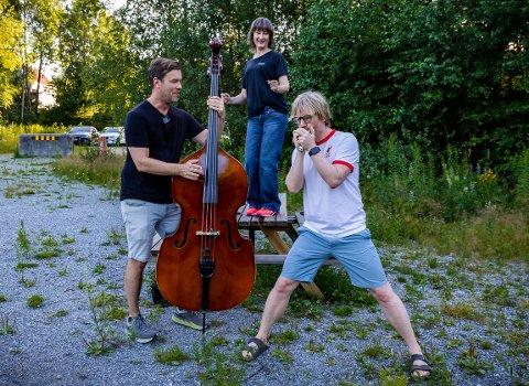 NYTT LIV: Folk i Halden inviterer til nok en nærfestival. 14. august er det Brattlibanen som blir stedet. Espen Holtan, Hege Brynildsen og Håkon Ohlgren er klare for å skape nok en fest i nabolaget.