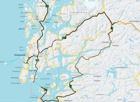 Kontraktsområdet i kommunane Fitjar, Stord, Bømlo, Sveio, Karmøy, Haugesund, Tysvær, Bokn, Vindafjord, Etne, Sauda, Suldal og Ullensvang.