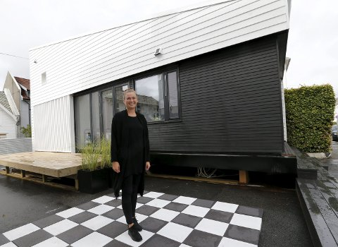 Mikrohus: Sivilarkitekt Kirsti Sveindal har fått mye oppmerksomhet rundt mikrohusprosjektet sitt.