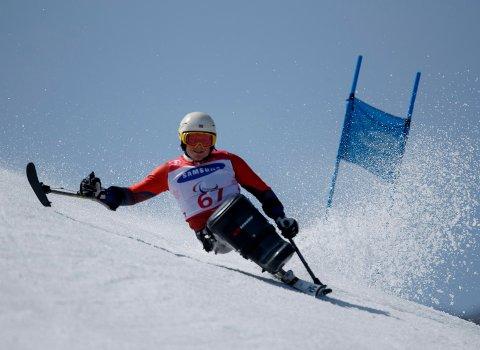 5. PLASS: Jesper Saltvik Pedersen ble nummer fem i slalåm i Paralympics.