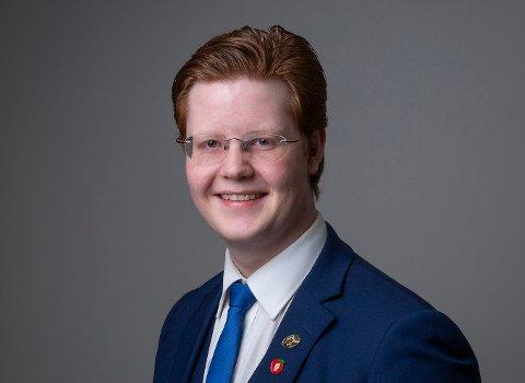 NY LEDER: Mathias Vikse Rovik (21) er valgt til ny leder i Haugesund Frp.