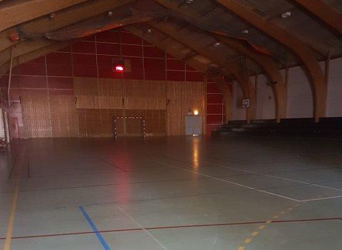 SLITT: Holmestrand forteller at det neppe er gjort noe med hallen siden den ble bygd på begynnelsen av 80-tallet.