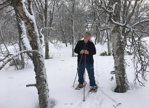 BLE SMITTET: Geir Rune Bjerkaas tok influensavaksinen i høst, og fattet fort mistanke da han mandag fikk symptomer.